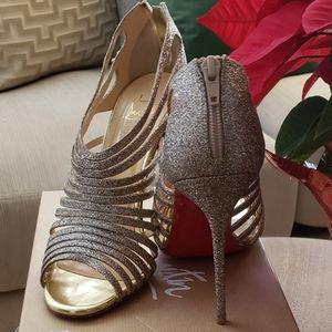 Louboutin Bridal Multi 100mm Glitter Sandals